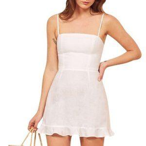 Reformation Kiernan White Dress